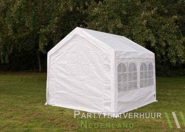 Partytent 3x3 meter achterkant huren - Partytentverhuur Dordrecht