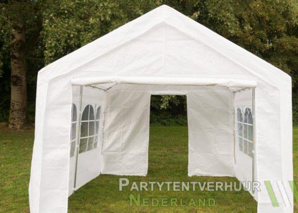 Partytent 3x3 meter voorkant met deur huren - Partytentverhuur Dordrecht