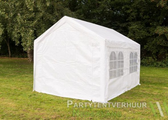 Partytent 3x4 meter achterkant huren - Partytentverhuur Dordrecht