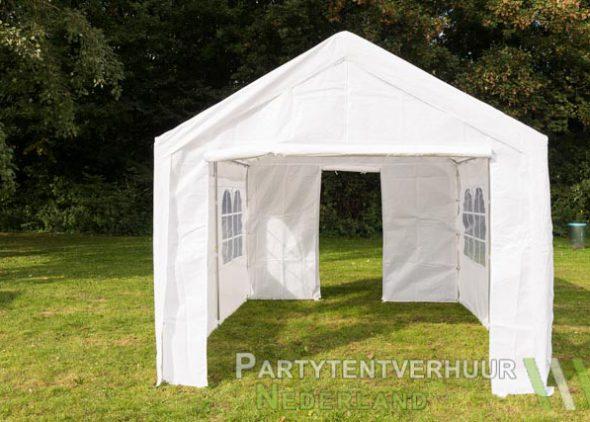 Partytent 3x4 meter voorkant met deur huren - Partytentverhuur Dordrecht