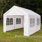 Partytent 3x4 meter zijkant huren - Partytentverhuur Dordrecht