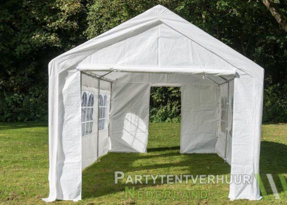 Partytent 3x6 meter voorkant met deur huren - Partytentverhuur Dordrecht