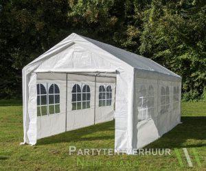 Partytent 3x6 meter zijkant huren - Partytentverhuur Dordrecht