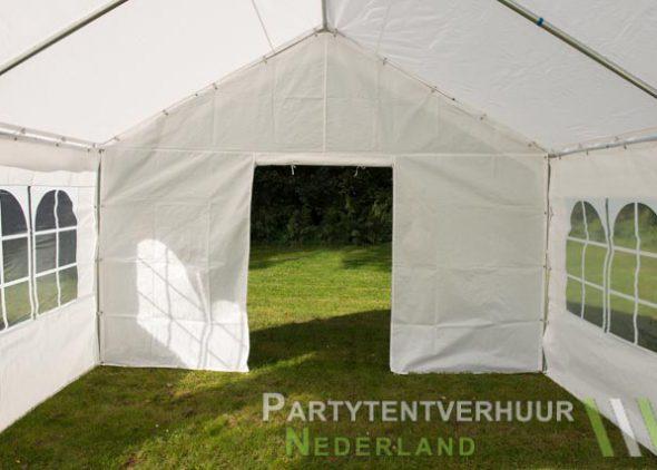 Partytent 4x4 meter binnenkant met deur open - Partytentverhuur Dordrecht