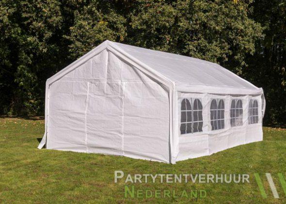 Partytent 4x8 meter achterkant huren - Partytentverhuur Dordrecht
