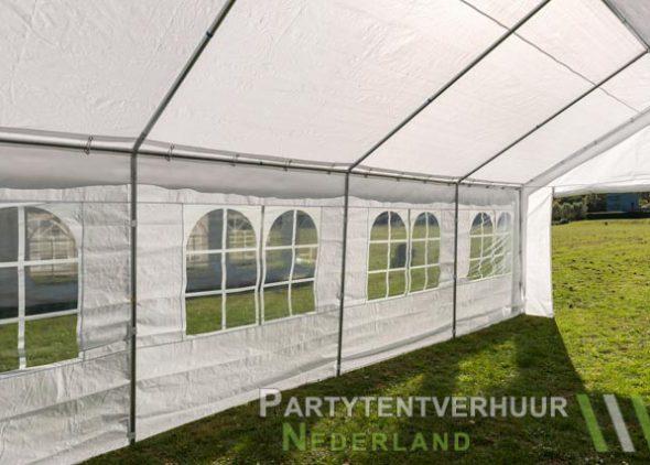 Partytent 4x8 meter binnenkant schuin huren - Partytentverhuur Dordrecht
