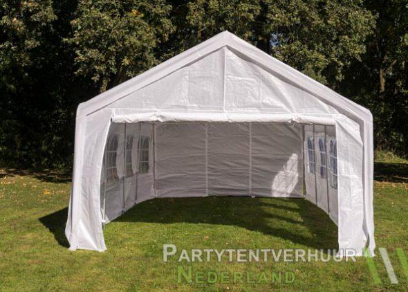 Partytent 4x8 meter voorkant huren - Partytentverhuur Dordrecht