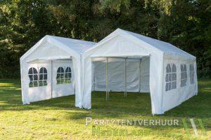 Partytent 6x6 meter voorkant huren - Partytentverhuur Dordrecht
