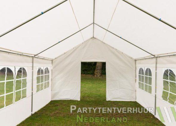 Partytent 4x6 meter voorkant met deur huren - Partytentverhuur Dordrecht