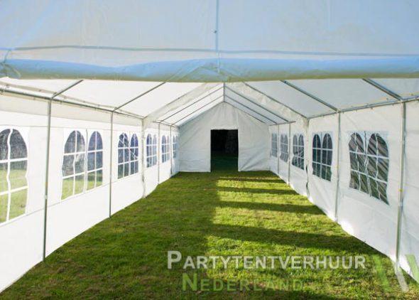 Partytent 6x12 meter binnenkant met deur huren - Partytentverhuur Dordrecht
