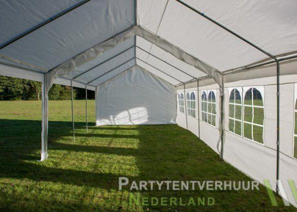 Partytent 6x12 meter zijkant links open huren - Partytentverhuur Dordrecht