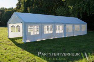 Partytent 6x12 meter zijkant rechts huren - Partytentverhuur Dordrecht