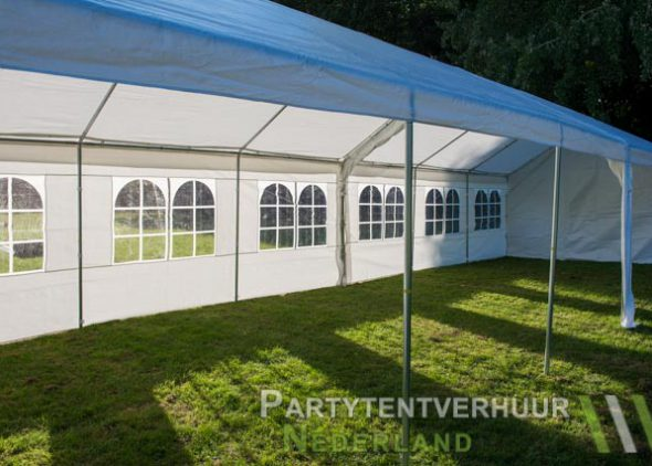 Partytent 6x12 meter zijkant rechts open huren - Partytentverhuur Dordrecht