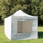 Easy up tent 3x4,5 meter voorkant schuin huren - Partytentverhuur Dordrecht