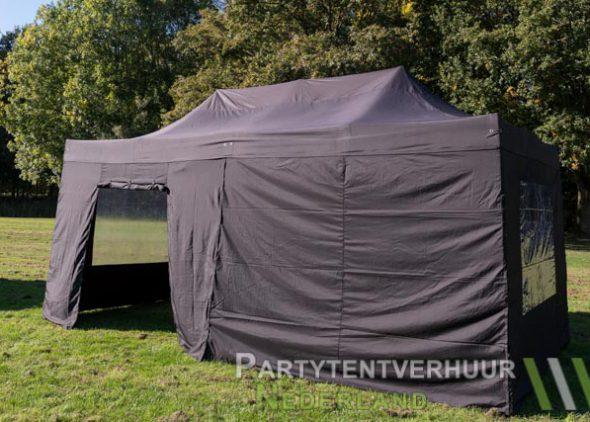 Easy up tent 3x6 meter zijkant met deur huren - Partytentverhuur Dordrecht