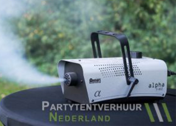 Rookmachine actiefoto huren - Partytentverhuur Dordrecht