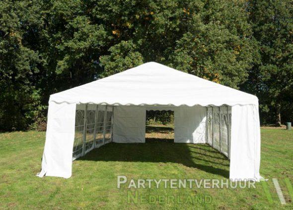 Partytent 5x10 meter voorkant huren - Partytentverhuur Dordrecht