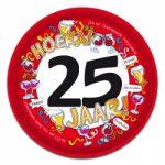 Dienblad 25 jaar kopen - Partytentverhuur Dordrecht