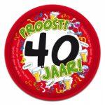 Dienblad 40 jaar kopen - Partytentverhuur Dordrecht