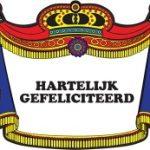 Hartelijk gefeliciteerd kroonschild - Partytentverhuur Dordrecht