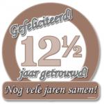 Huldeschild 12.5 jaar getrouwd - Partytentverhuur Dordrecht