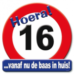 Huldeschild 16 jaar - Partytentverhuur Dordrecht