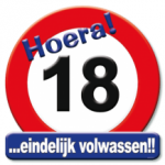 Huldeschild 18 jaar - Partytentverhuur Dordrecht