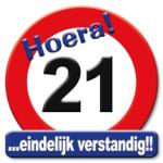 Huldeschild 21 jaar - Partytentverhuur Dordrecht