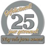 Huldeschild 25 jaar getrouwd - Partytentverhuur Dordrecht
