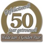 Huldeschild 50 jaar getrouwd - Partytentverhuur Dordrecht