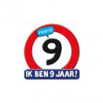 Huldeschild 9 jaar - Partytentverhuur Dordrecht