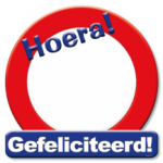 Huldeschild Hoera - Partytentverhuur Dordrecht