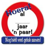 Huldeschild al een jaar een paar - Partytentverhuur Dordrecht