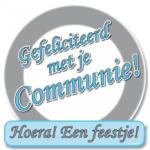 Huldeschild communie - Partytentverhuur Dordrecht