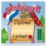 Huldeschild diploma geslaagd - Partytentverhuur Dordrecht