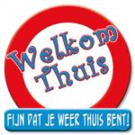 Huldeschild welkom thuis - Partytentverhuur Dordrecht