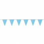 Lichtblauwe vlaggetjes 10 meter kopen - Partytententverhuur Dordrecht