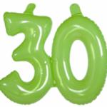 Opblaascijfer 30 lime - Partytentverhuur Dordrecht