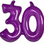 Opblaascijfer 30 paars - Partytentverhuur Dordrecht