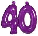 Opblaascijfer 40 paars - Partytentverhuur Dordrecht