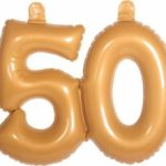 Opblaascijfer 50 goud - Partytentverhuur Dordrecht