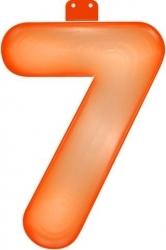 Opblaascijfer 7 oranje - Partytentverhuur Dordrecht