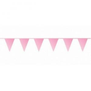 Roze vlaggetjes 10 meter kopen - Partytententverhuur Dordrecht