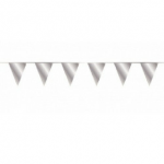 Silver vlaggetjes 10 meter kopen - Partytententverhuur Dordrecht
