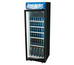 Display koelkast 360 liter zwart huren - Partytentverhuur Dordrecht