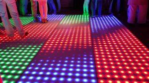 Verlichte pixel dansvloer huren Dordrecht