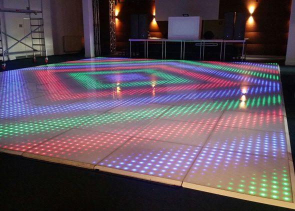 Verlichte pixel dansvloer huren Drechtsteden