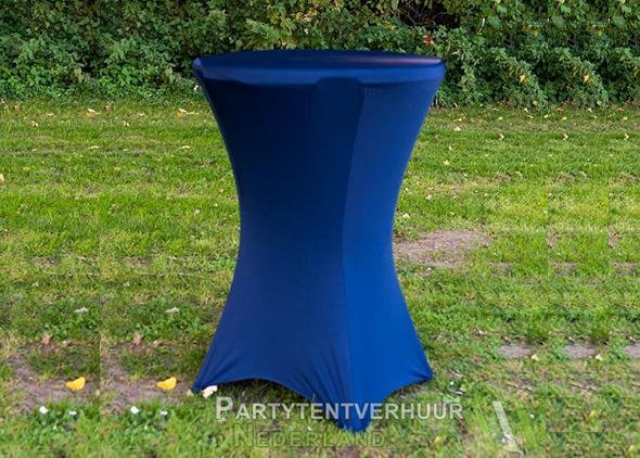 Statafel met rok donkerblauw huren Partytentverhuur Dordrecht