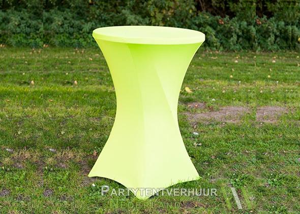 Statafel met rok oranje huren-Partytentverhuur Dordrecht