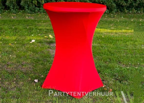 Statafel met rok rood huren Partytentverhuur Dordrecht